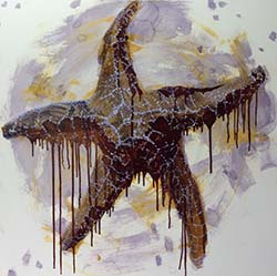 painting of sea star