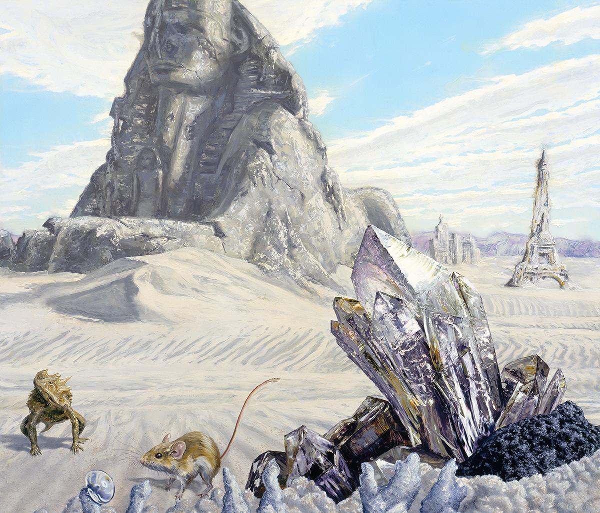 Post human landscape with Las Vegas ruins