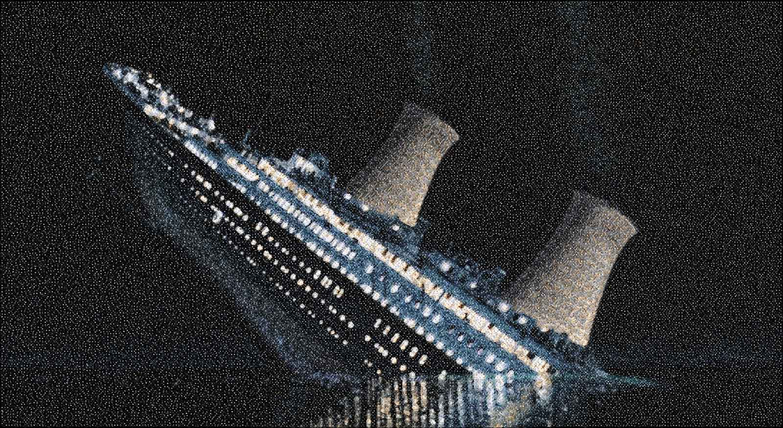 composite image of sinking ship