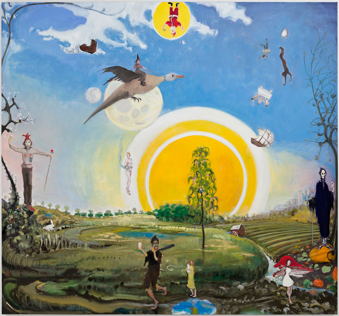 Pagan activities in pastoral landscape