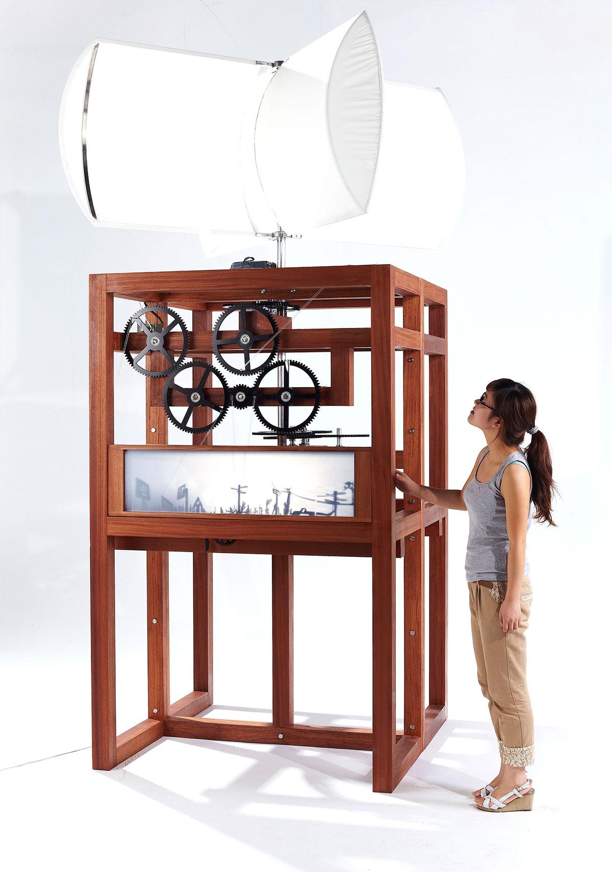 wind powered animation machine