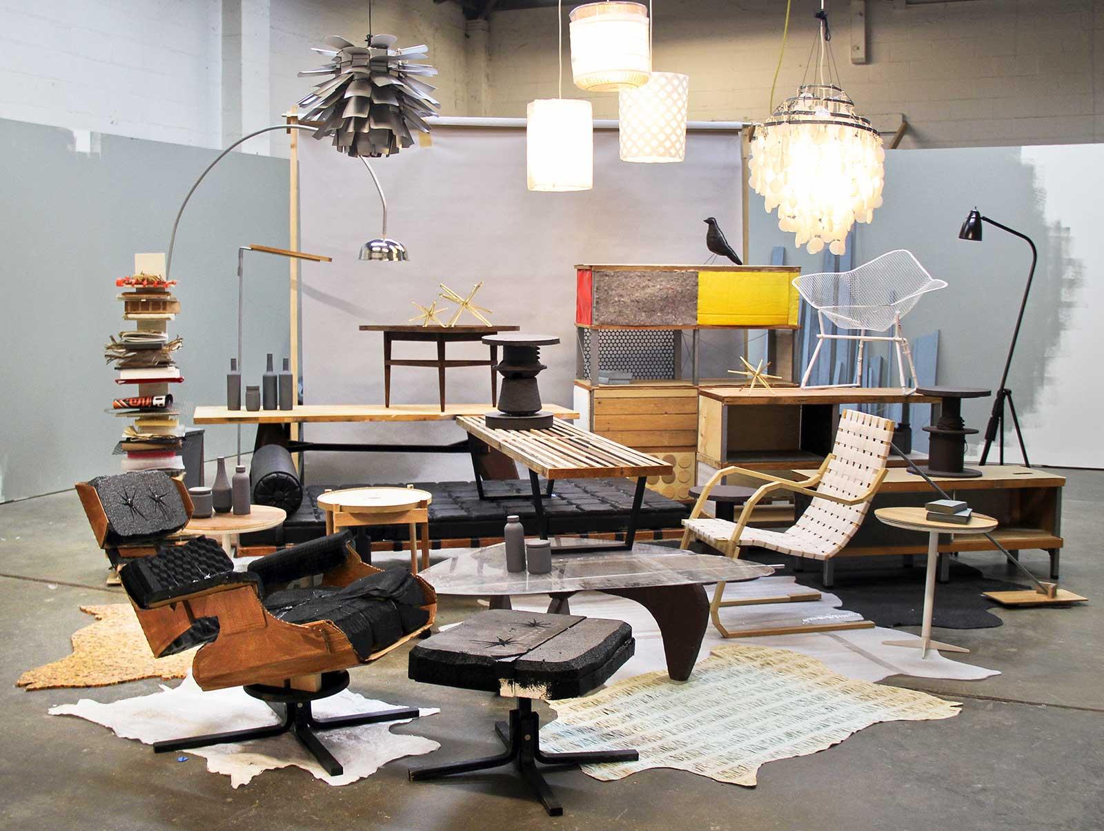 designer furniture made from trash