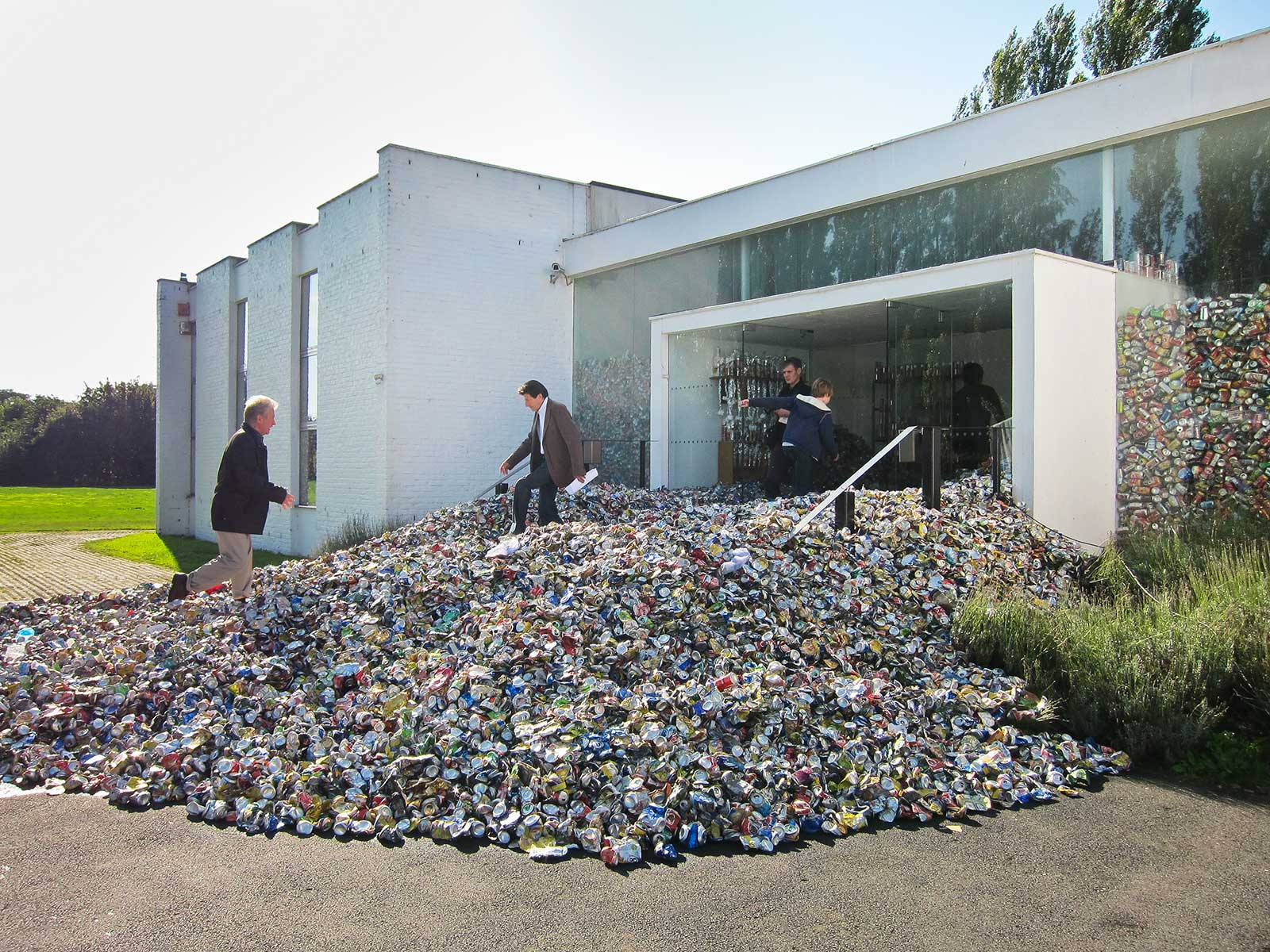 deluge of aluminum cans