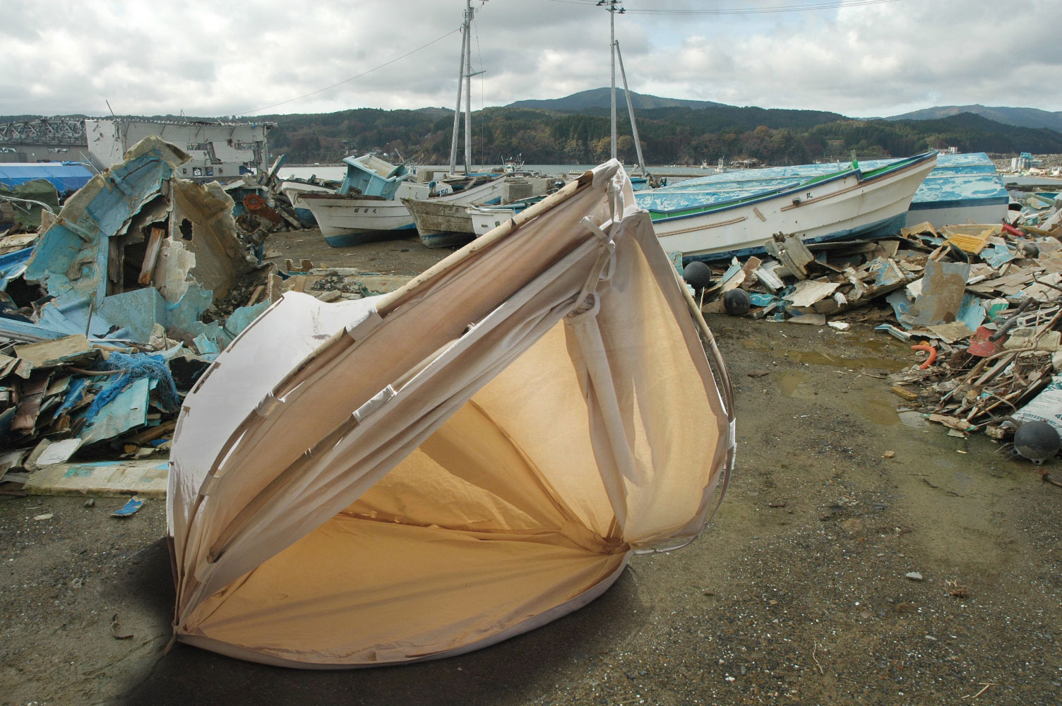 portable shelter and boats