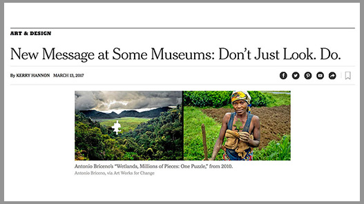 NY Times article on Art Works for Change