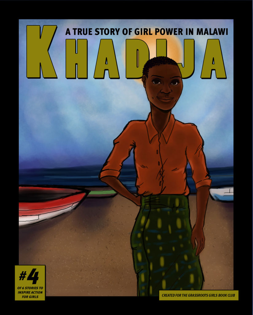 graphic novel cover with girl from Malawi