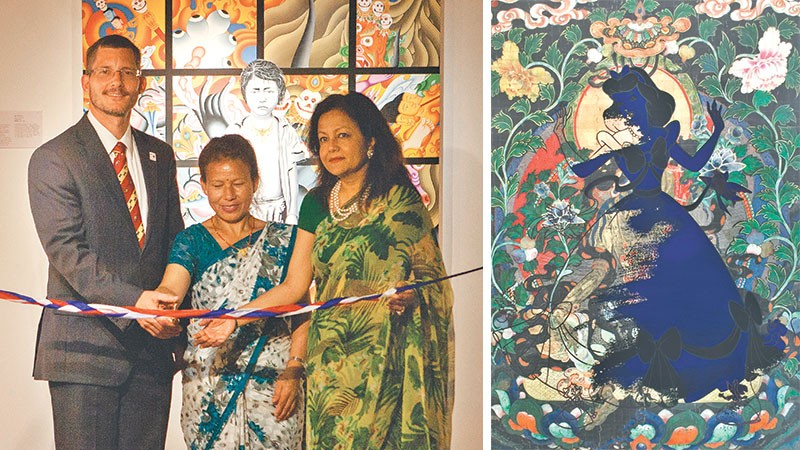 ribbon cutting ceremony at museum art exhibition